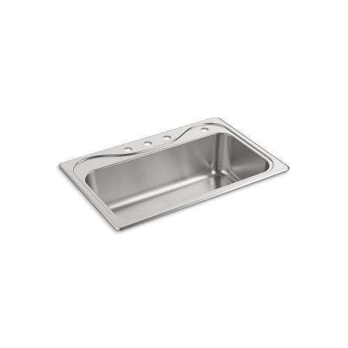 Sterling Southhaven 33-in. Single Bowl Drop-in 18 Gauge Stainless Steel Kitchen Sink