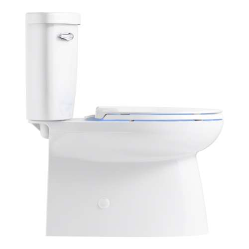 Sterling Brella Elongated Comfort-Height Skirted 2-Piece Toilet with Cachet Nightlight Toilet Seat and ReadyLock