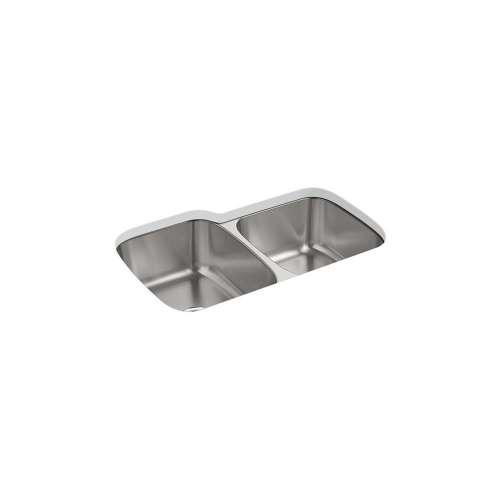 Sterling McAllister 32-in. Double Bowl Undermount 18 Gauge Stainless Steel Kitchen Sink