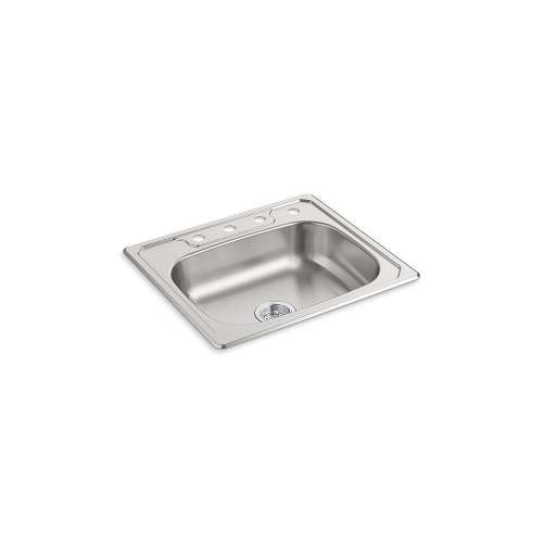 Sterling Middleton 25-in. Single Bowl Drop-in 20 Gauge Stainless Steel Kitchen Sink