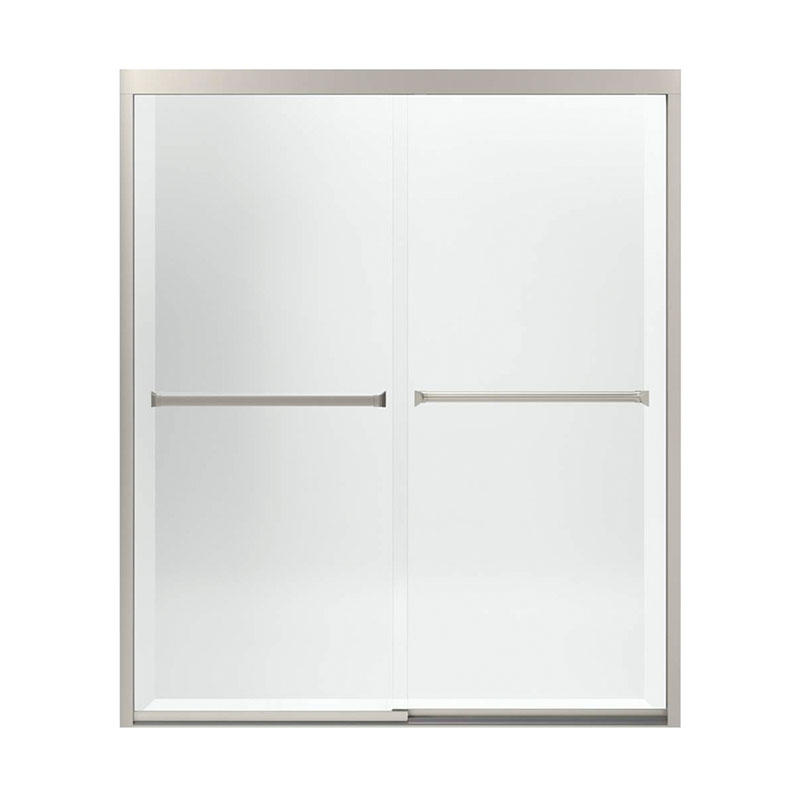Sterling Meritor 54.37 To 59.37-In X 69.68-In Frameless Sliding Alcove Shower Door With Clear Glass