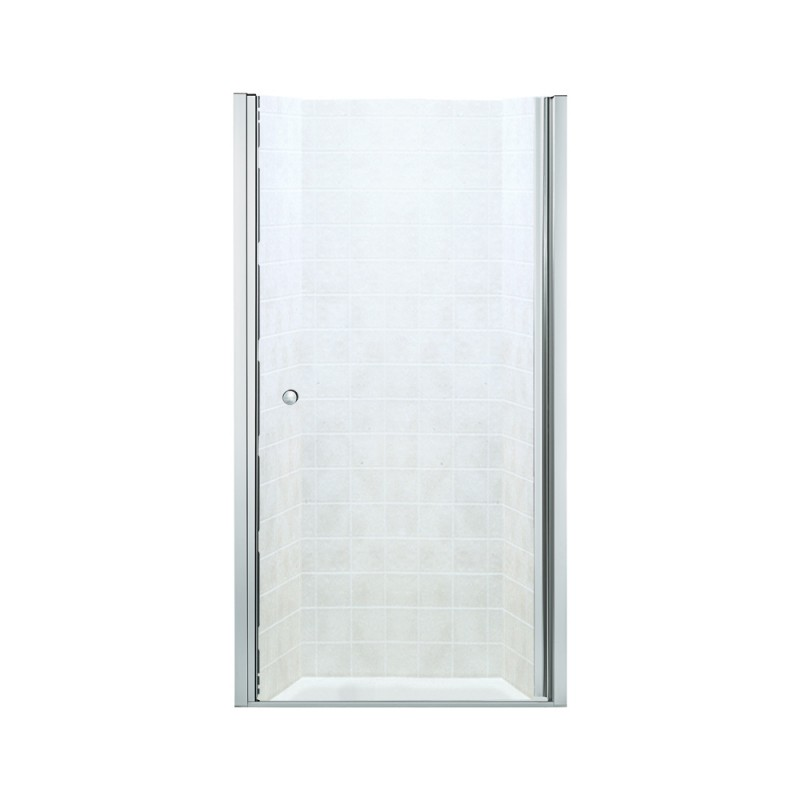 Sterling Finesse 30-In X 31-1/2-In Frameless Hinged Alcove Shower Door With Clear Glass