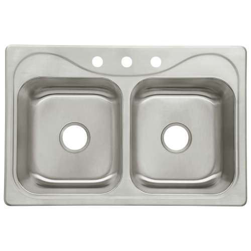 Sterling Southhaven 33-in. Double Bowl Drop-in 18 Gauge Stainless Steel Kitchen Sink - In Multiple Configurations