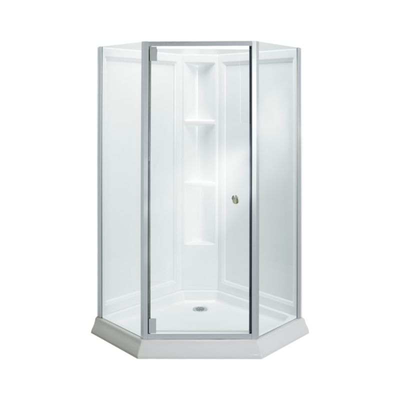 Buy Sterling Vikrell 42-In X 78.25-In Corner Shower Wall, Base, And ...