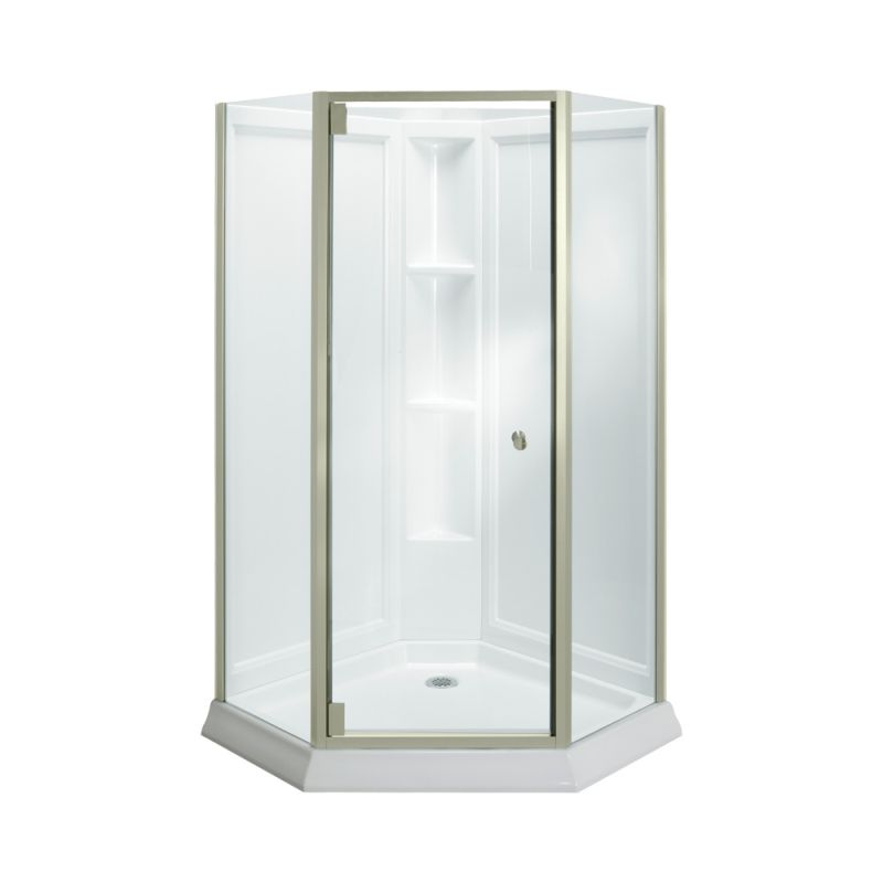 Sterling Vikrell 42 In X 78 25 Corner Shower Wall Base And