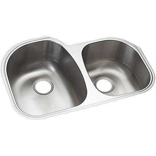 Sterling Cinch 32-in. Double Bowl Undermount 18 Gauge Stainless Steel Kitchen Sink