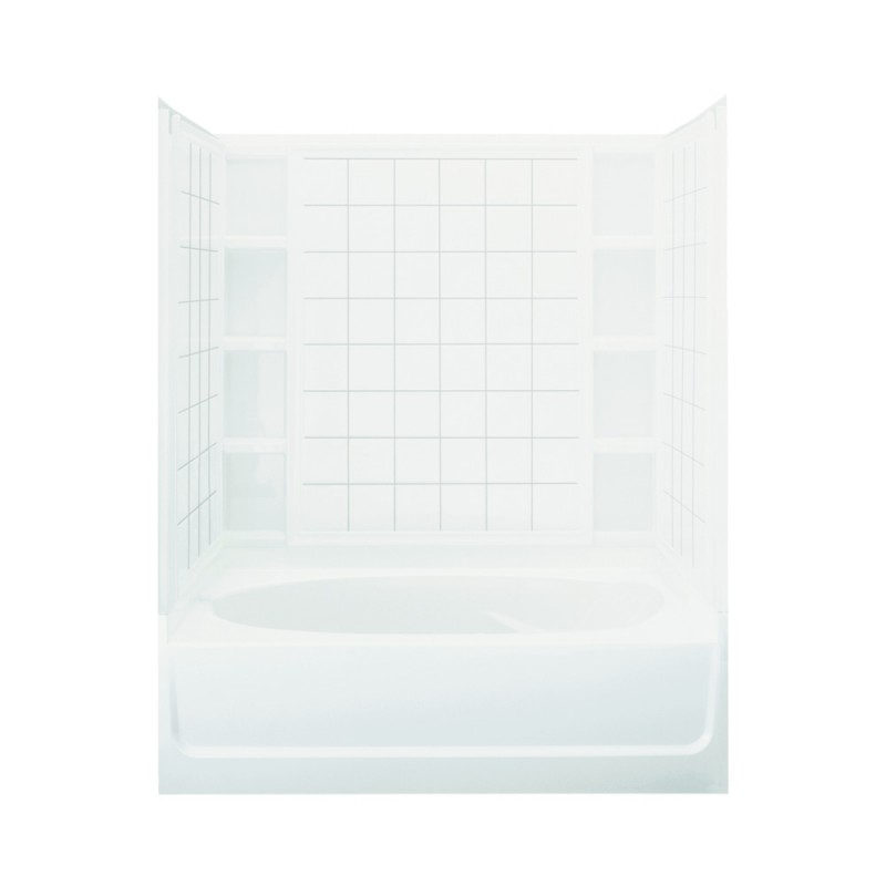 Sale Sterling Ensemble 60 In X 36 In X 74.25 In Bathtub And Shower