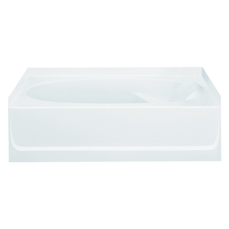 Sterling Ensemble Vikrell 60.25-In Alcove Bathtub With Left Hand Drain