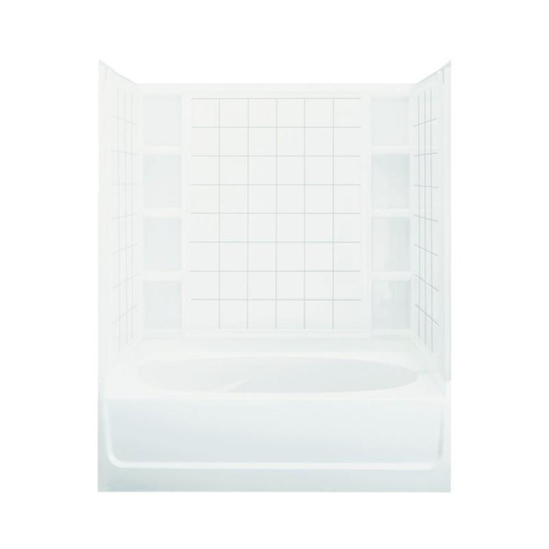 Buy Sterling Ensemble 60-In X 42-In X 72-In Bathtub And Shower Kit ...