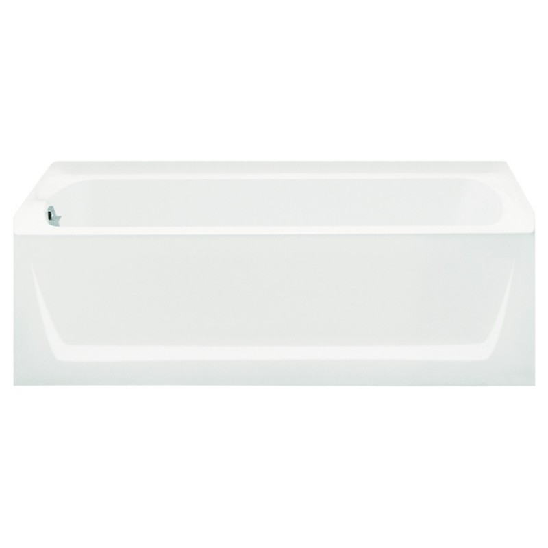 Buy Sterling Ensemble Vikrell 60.25-In Alcove Bathtub With Left Hand ...