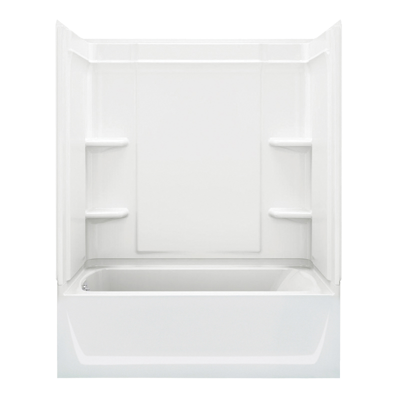 Buy Sterling Ensemble 31.25-In X 60.25-In X 73-In Bathtub And Shower ...