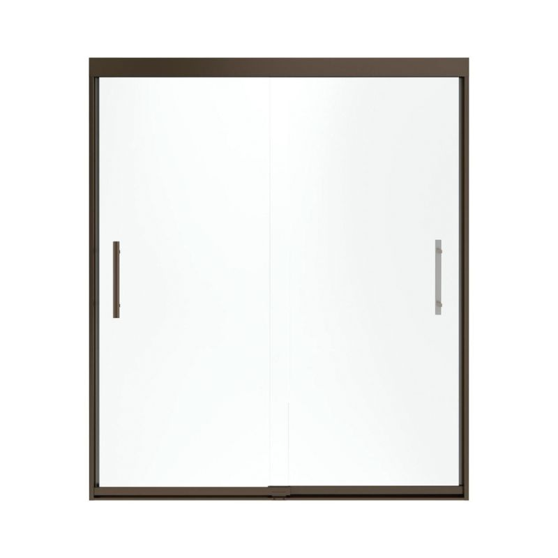 Sterling Finesse44.625 To 47.625-In X 70.0625-In Frameless Sliding Alcove Shower Door With Frosted Glass