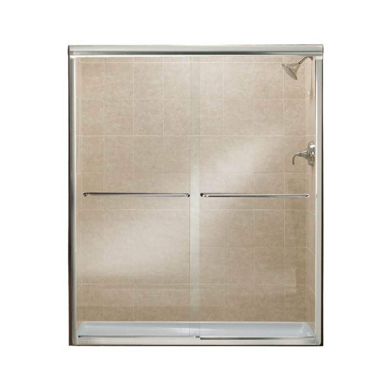 Buy Sterling Finesse 52 To 57-In X 70.06-In Frameless Hinged Alcove ...