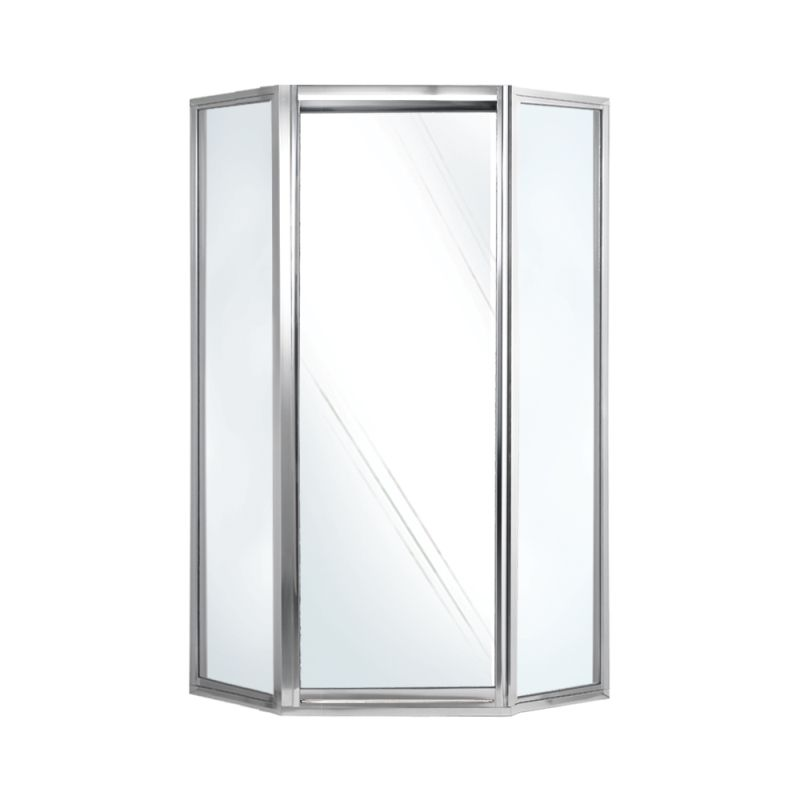 Swan 38-in x 36-in x 70-in Neo-Angle Shower Door with Clear Glass