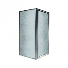 Swan 36-in x 36-in x 70-in Double Threshold Shower Door Kit with Obscure Glass