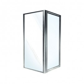 Swan 36-in x 36-in x 70-in Double Threshold Shower Door Kit with Clear Glass