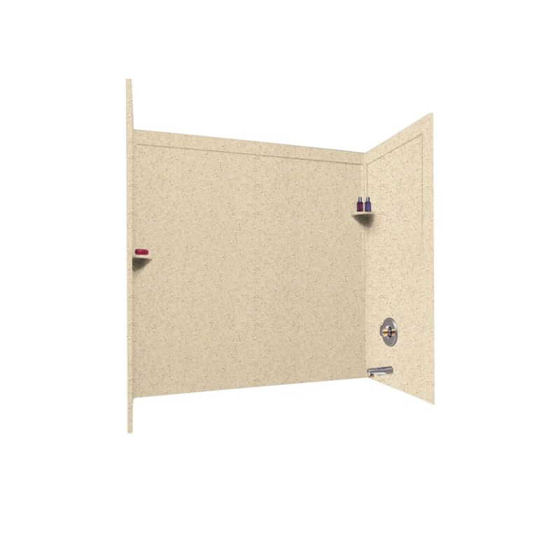 Swan Solid Surface 32-in x 60-in x 60-in Bathtub Wall Kit