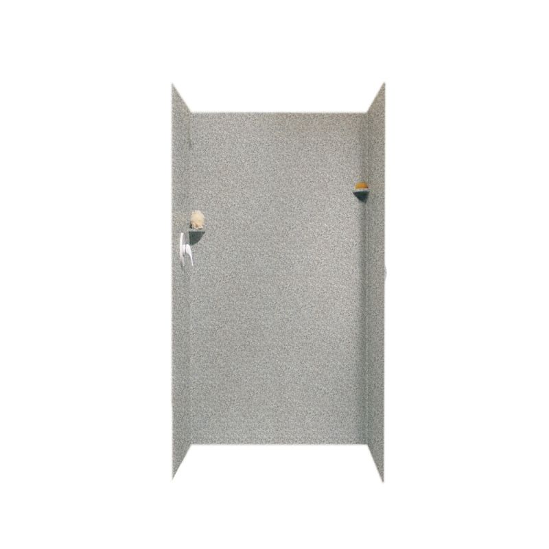 Swan Solid Surface 36-in x 36-in x 72-in Shower Wall Surround