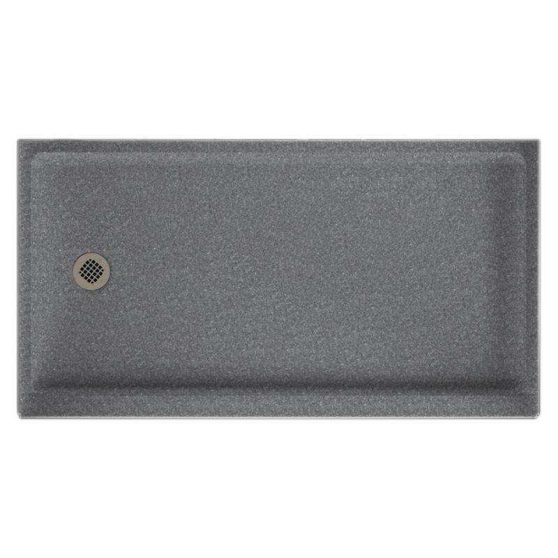 Swan Solid Surface 60-in x 32-in Shower Base with Left Drain
