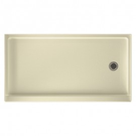 Swan Solid Surface 60-in x 32-in Shower Base with Right Drain