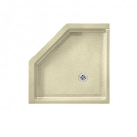 Swan Solid Surface 36-in x 36-in Neo-Angle Shower Base with Center Drain