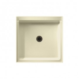 Swan Solid Surface 42-in x 42-in Shower Base with Center Drain