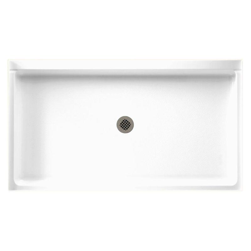 Swan Veritek 60-in x 34-in Shower Base with Center Drain