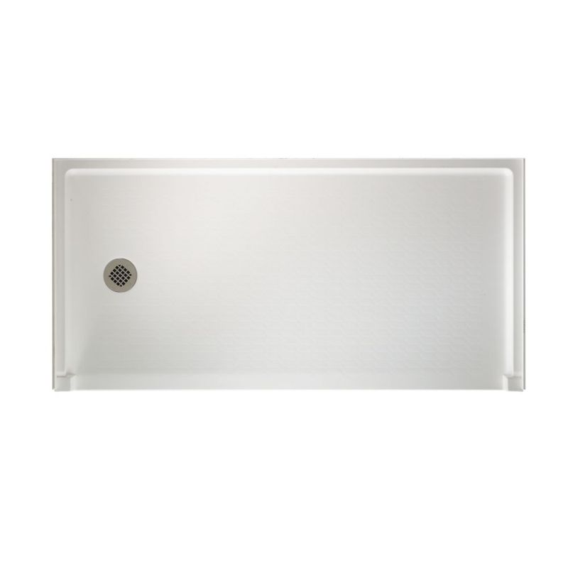 Swan Veritek 60-in x 30-in Shower Base with Left Drain