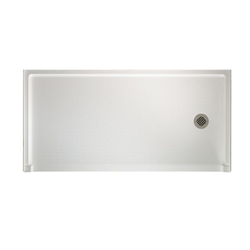 Swan Veritek 60-in x 30-in Shower Base with Right Drain