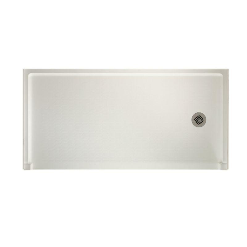 Swan Veritek 60-in x 30-in Shower Base with Right Drain
