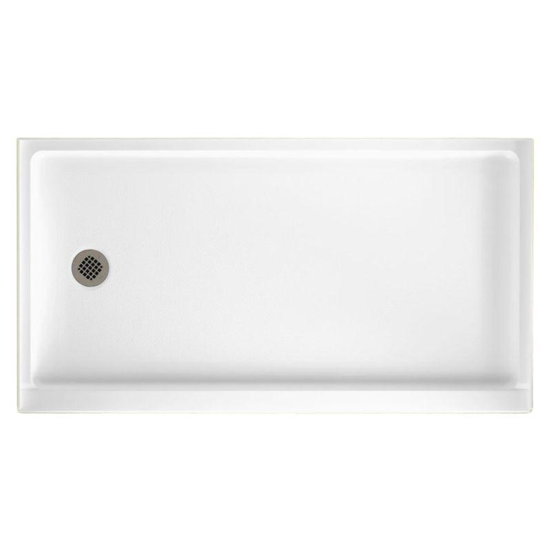 Swan Veritek 60-in x 32-in Shower Base with Left Drain