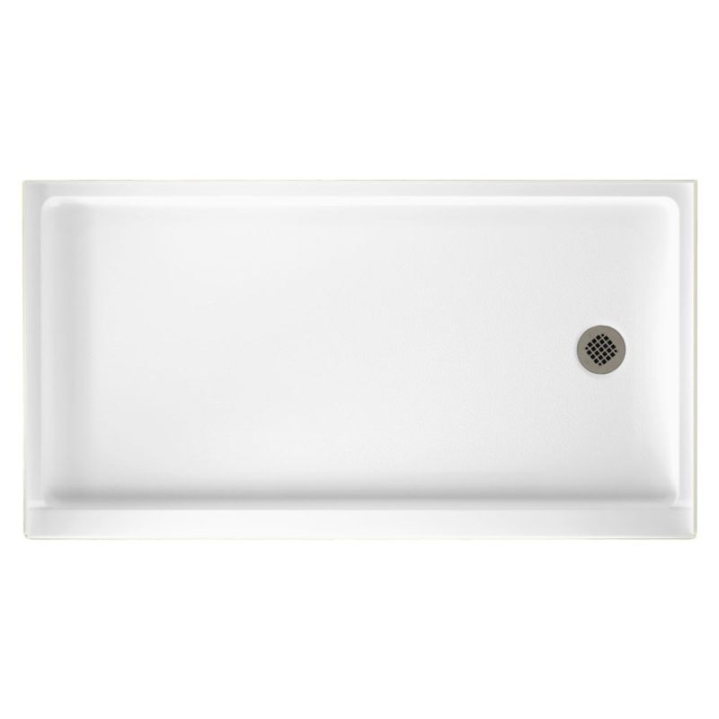 Swan Veritek 60-in x 32-in Shower Base with Right Drain