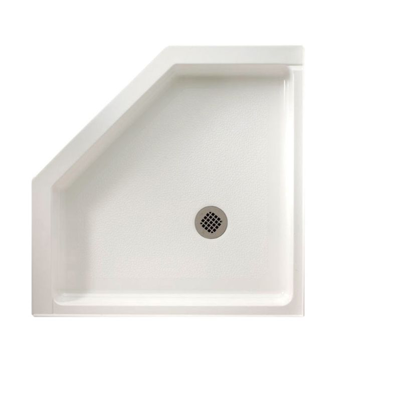Swan Veritek 36-in x 36-in Neo-Angle Shower Base with Center Drain