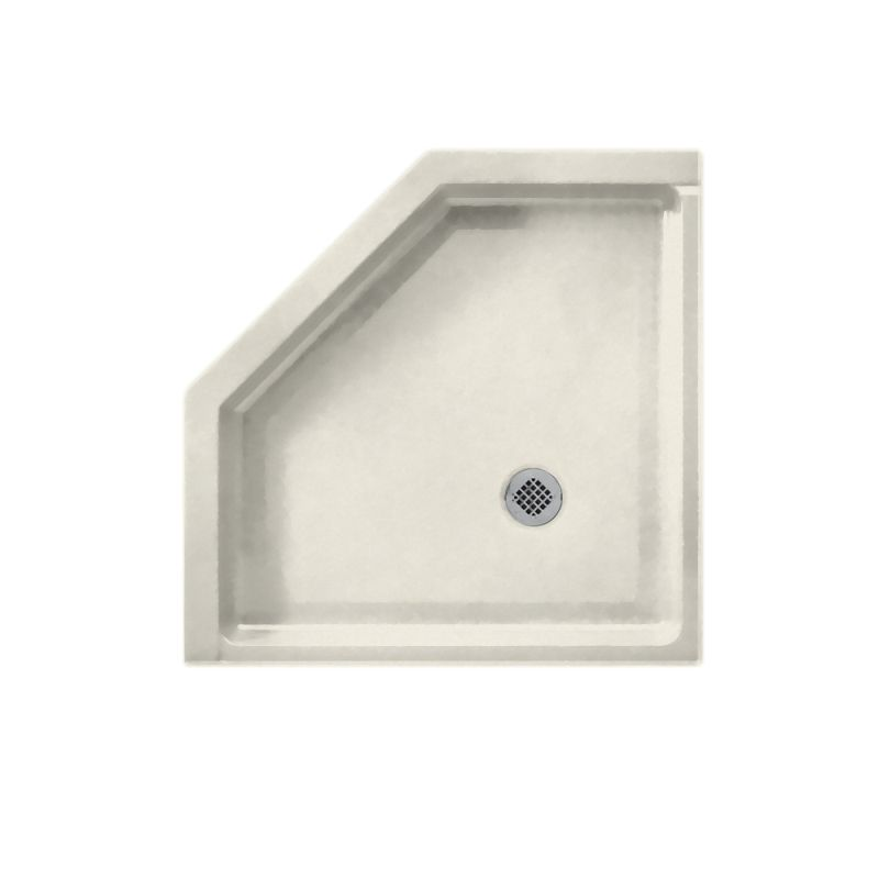 Sale Swan Solid Surface 38 In X 38 In Neo Angle Shower Base With