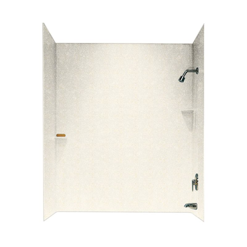 Swan Solid Surface 30-in x 60-in x 60-in Bathtub Wall Kit