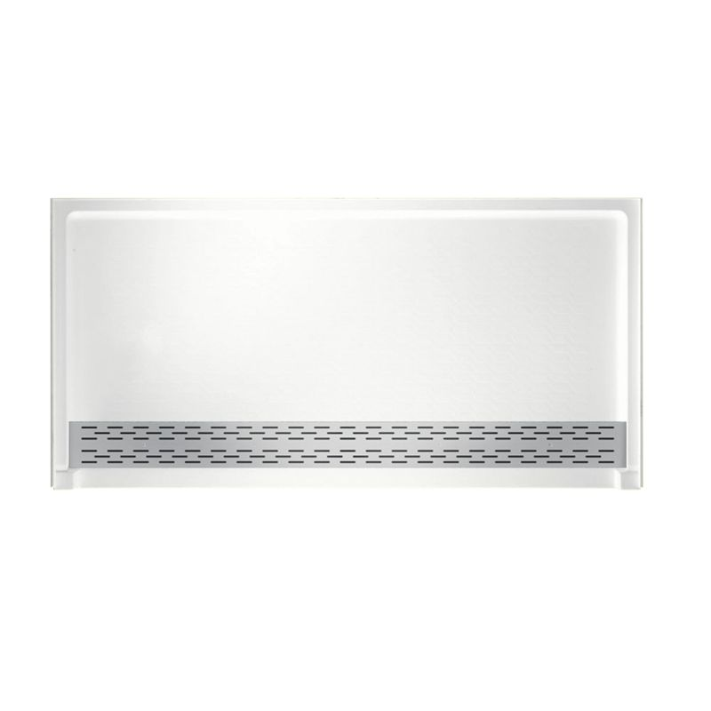 Swan Solid Surface 64-in x 34-in Shower Base with Trough Drain