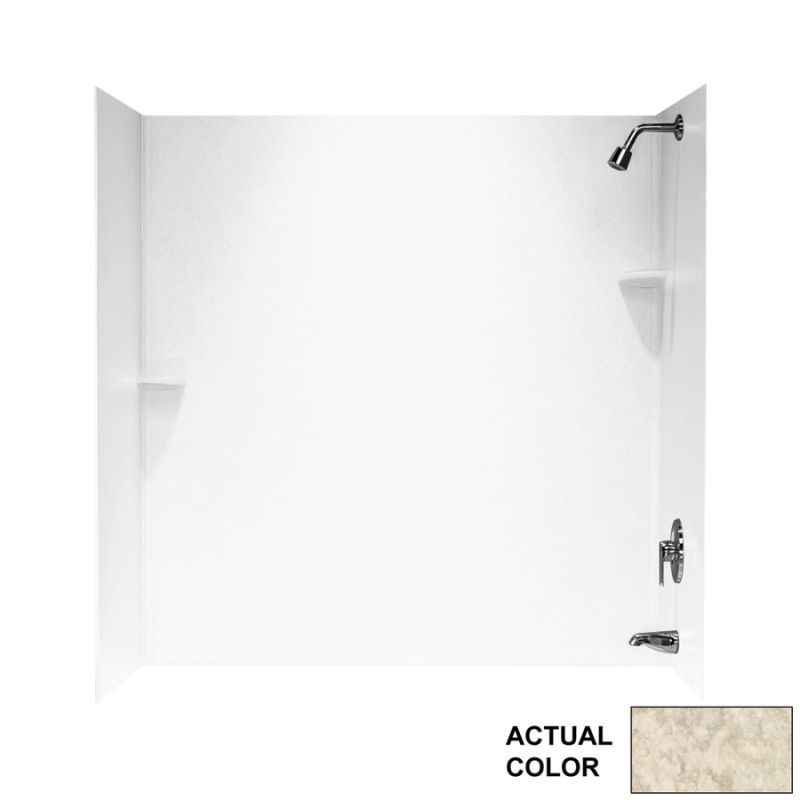 Swan Solid Surface 30-in x 60-in x 72-in Bathtub Wall Kit