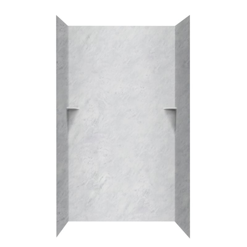 Buy Swan Solid Surface 36-in x 48-in x 96-in Shower Wall Surround ...