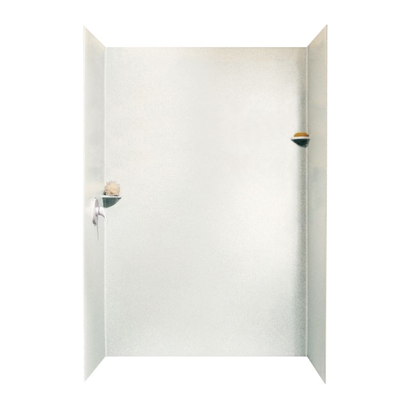 Swan Solid Surface 36-in x 62-in x 96-in Shower Wall Surround