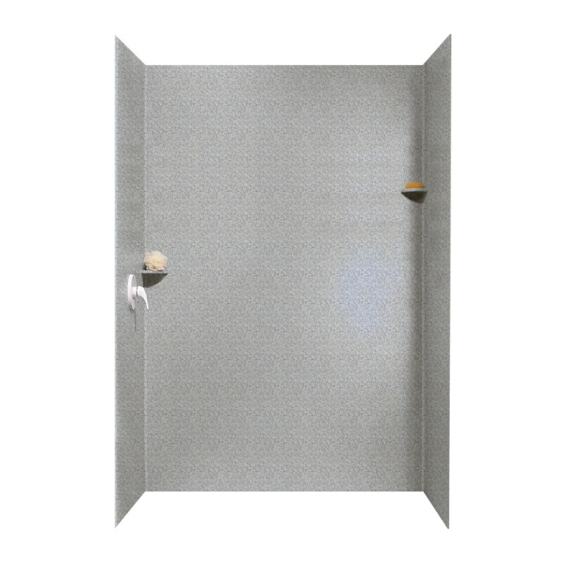 Buy Swan Solid Surface 36-in x 62-in x 96-in Shower Wall Surround ...