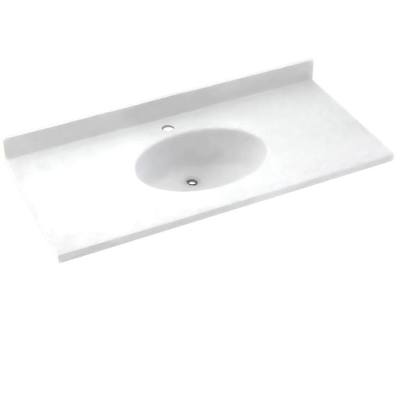 Swan Chesapeake Solid Surface 25-in x 22-in Vanity Top