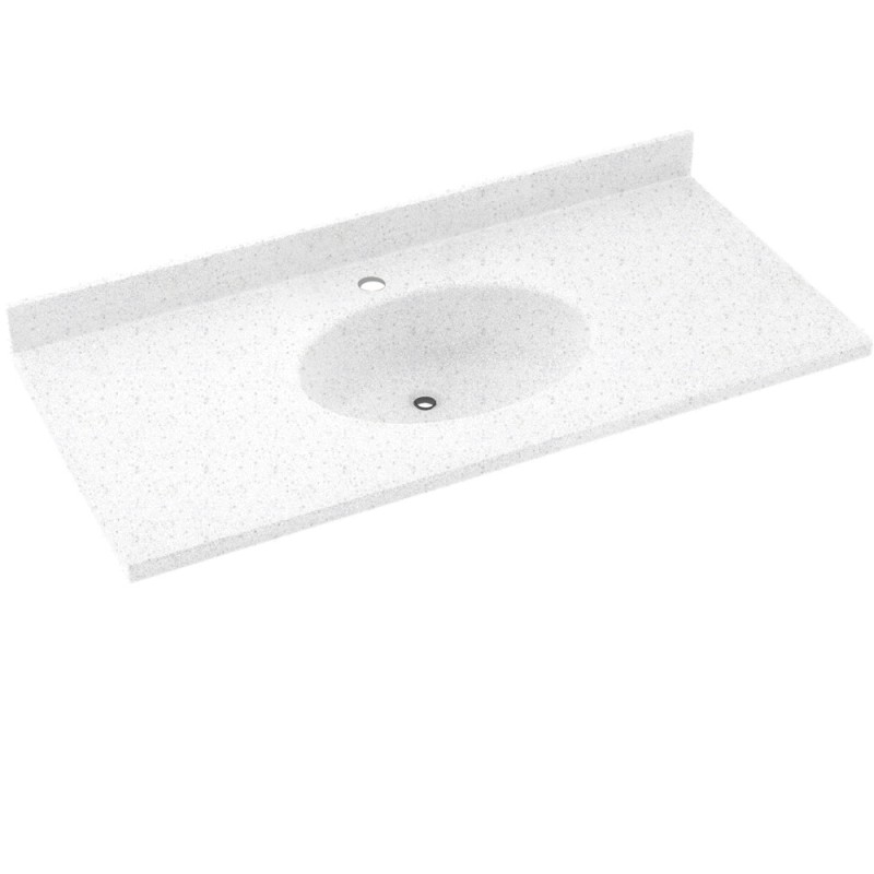 Swan Chesapeake Solid Surface 25-in x 22-in Vanity Top