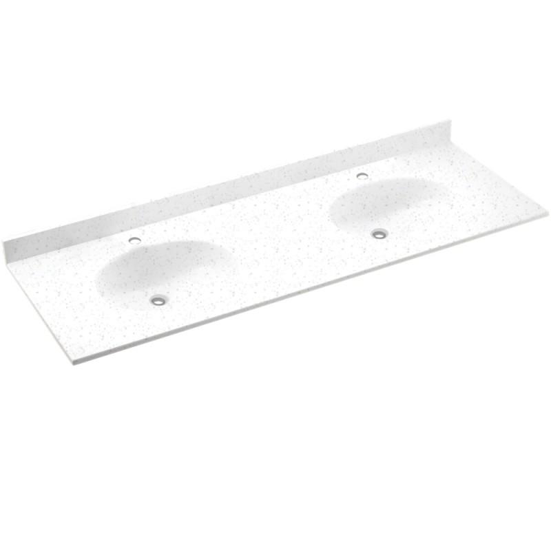 Swan Chesapeake Solid Surface 73-in x 22-in Vanity Top