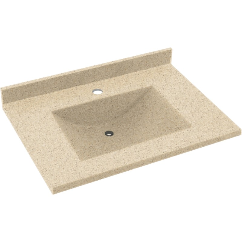 Swan Contour Solid Surface 25-in x 22-in Vanity Top