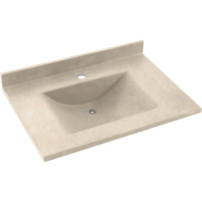 Swan Contour Solid Surface 25-in x 22-in Vanity Top