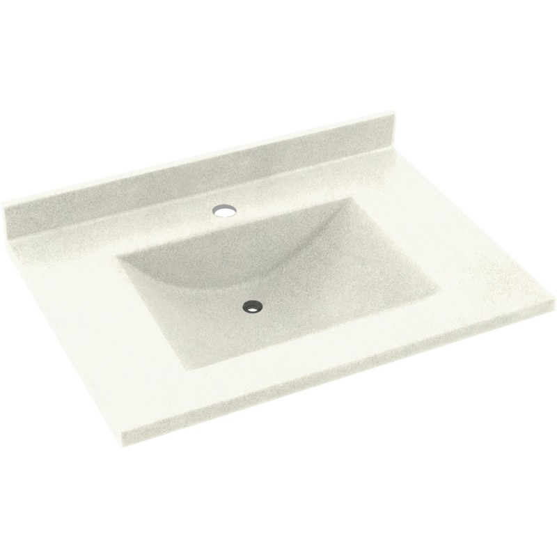 Swan Contour Solid Surface 31-in x 22-in Vanity Top