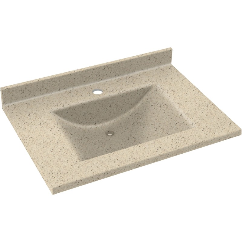 Swan Contour Solid Surface 37-in x 22-in Vanity Top