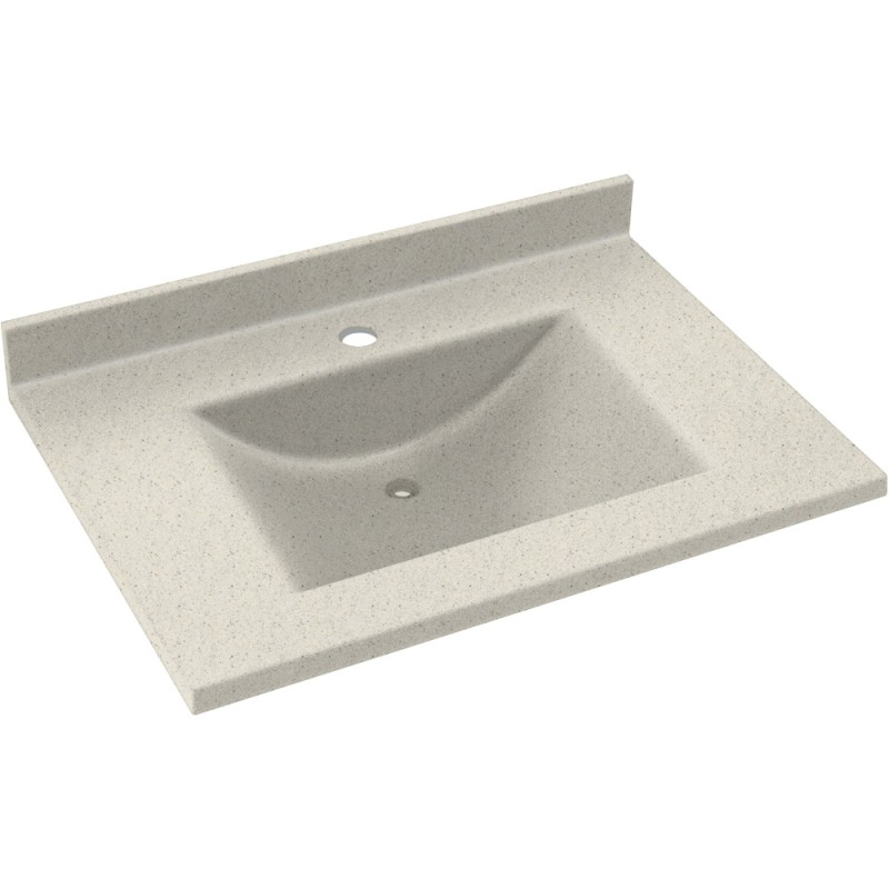 Swan Contour Solid Surface 37-in x 22-in Vanity Top
