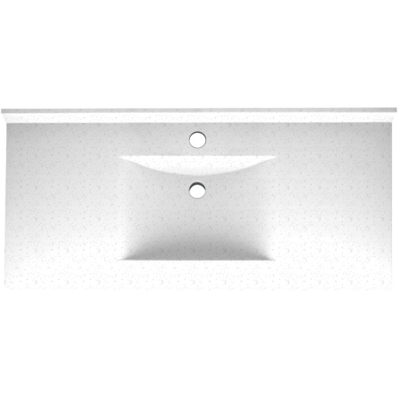 Swan Contour Solid Surface 43-in x 22-in Vanity Top