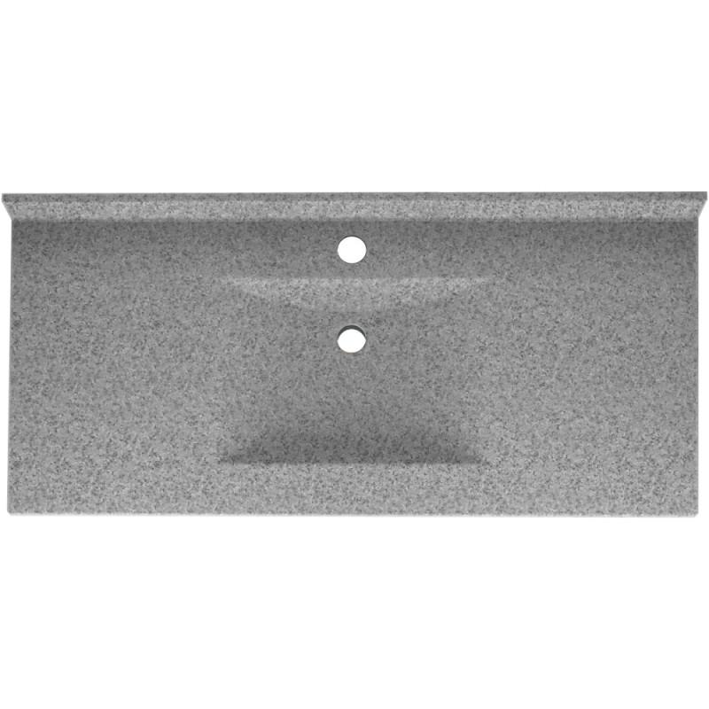 Swan Contour Solid Surface 43-in x 22-in Vanity Top